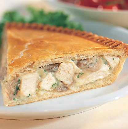 Chicken and Mushroom pie - available for home delivery.