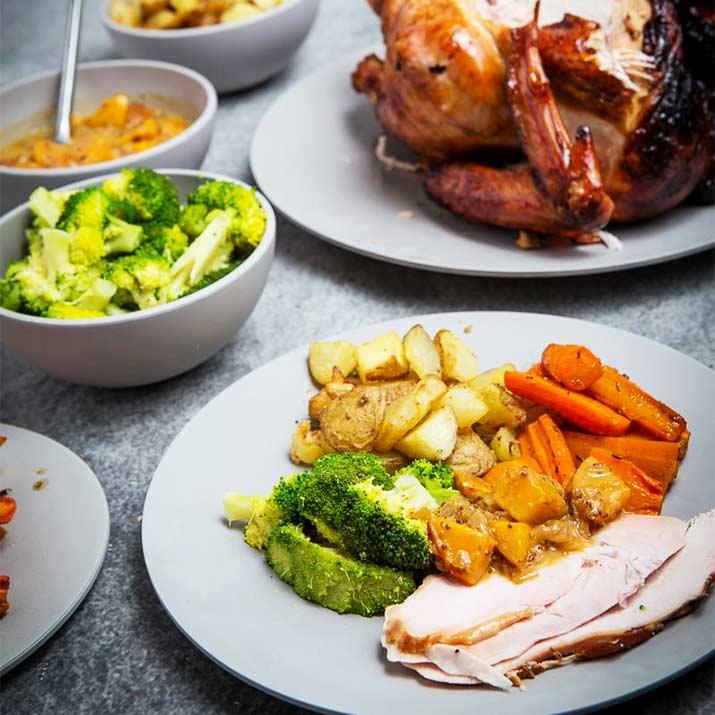 Christmas Ham Dinner.Turkey Ham Dinner For 4